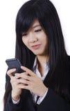 Печатать телефона бизнес-леди Стоковые Изображения RF