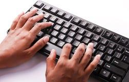 Печатая на машинке клавиатура Стоковые Изображения RF