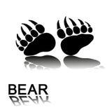 Печати лапки медведя Стоковое Изображение