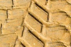 Печати грязи покрышки корабля Стоковое Изображение RF
