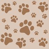 Печати животной ноги Картина печати ноги собаки иллюстрация вектора