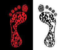печати ноги Стоковая Фотография