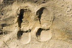 Печати ноги Стоковое Фото