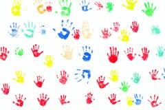 печати руки разнообразности Стоковые Фото