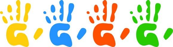 печати руки Стоковое Изображение