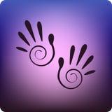 печати руки Стоковое Фото