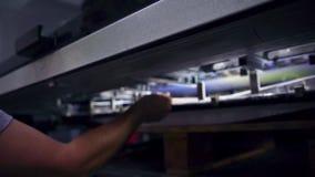Печатная машина для печатания A-2 видеоматериал