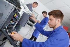 Печатная машина отверстия подмастерья стоковое фото rf