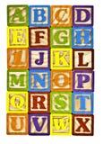 печатные буквы алфавита Стоковые Фотографии RF