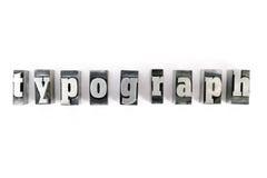 печатные буквы Стоковые Фотографии RF