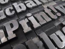 печатные буквы Стоковое Фото