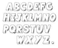 Печатные буквы Стоковые Изображения