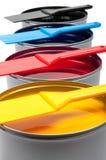 Печатные краски на белой предпосылке Стоковые Изображения RF