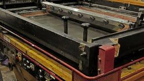 Печатный станок Silkscreen видеоматериал