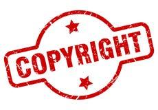 печать авторского права иллюстрация вектора