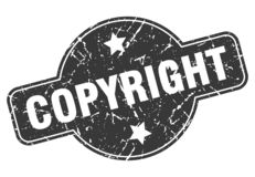 печать авторского права иллюстрация штока
