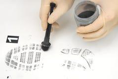 Печать ботинка Стоковое Изображение RF