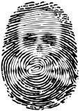 Печать большого пальца руки Стоковое фото RF