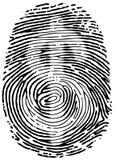 Печать большого пальца руки Стоковые Изображения