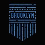 Печать Бруклина винтажная иллюстрация вектора