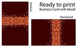 печать визитной карточки готовая к иллюстрация вектора
