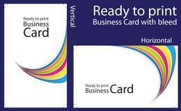 печать визитной карточки готовая к иллюстрация штока