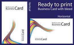 печать визитной карточки готовая к Стоковая Фотография