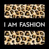 Печать дизайна моды с картиной леопарда Предпосылка африканской шкуры модная для плаката, печати, футболки, карточки иллюстрация вектора