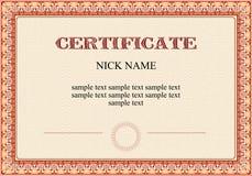 печать диплома сертификата Стоковое Изображение RF