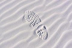 печать дюн ботинка струится песок Стоковое Изображение
