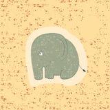 Печать детей слон смешной Стоковые Фотографии RF
