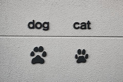 Печать животной ноги на стене Стоковое Изображение RF