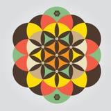 Печать знака семени жизни meditative Стоковые Изображения
