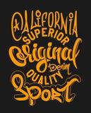 Печать и университетская спортивная команда вектора джинсовой ткани высшего качества График футболки Иллюстрация штока