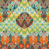 Печать картины арабескы заплатки этническая богемская Безшовное zigz Стоковая Фотография RF
