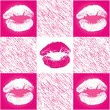печать картины губы checkerd Стоковые Фотографии RF