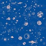 Печать картины constilation галактики безшовная Стоковое Изображение RF