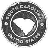 Печать карты Южной Каролины винтажная бесплатная иллюстрация