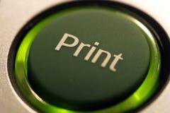печать кнопки Стоковое Изображение RF