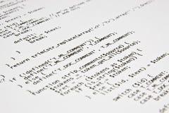 Печать кода Php программируя Стоковые Фотографии RF