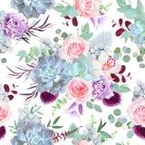 Печать красивого sesonal зимы флористическая иллюстрация вектора