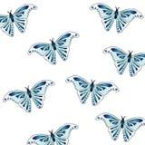 Печать красивой текстуры животная - бабочки Крыла насекомого светлы - синь с красивой картиной индиго Стоковое Изображение RF