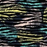 Печать красочной зебры экзотическая животная Стоковое Изображение