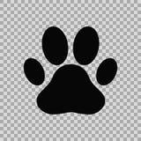 печать лапки собаки иллюстрация штока