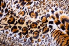 печать леопарда ткани Стоковая Фотография