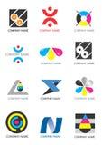 печать логосов компании Стоковое Изображение RF