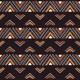 Печать моды ткани африканская Соплеменная безшовная картина иллюстрация вектора