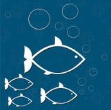 Печать моря рыб Стоковые Изображения RF