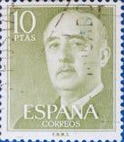 Печать напечатанная в шоу Франсиско Франко Испании стоковая фотография
