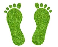 Печать ноги сделанная зеленой изолированной травы бесплатная иллюстрация